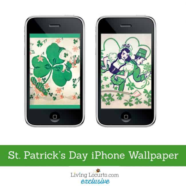 Vintage St. Patricks Day Free iPhone Wallpaper. LivingLocurto.com