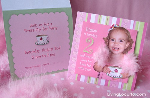 2 Year Olds Birthday Party Dress Up Tea Invitation