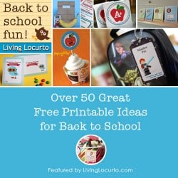 Back to School Free Printable Round-Up List by Living Locurto