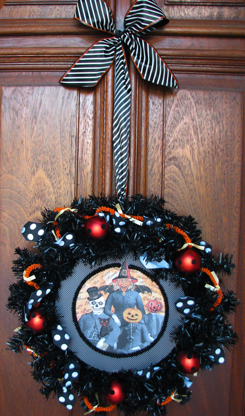 Halloween Wreath - Witch Pumpkin - Living Locurto