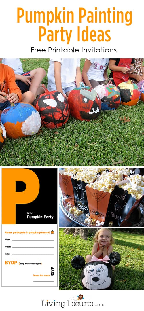 Host a Pumpkin Painting Party for your kids with these fun party ideas!