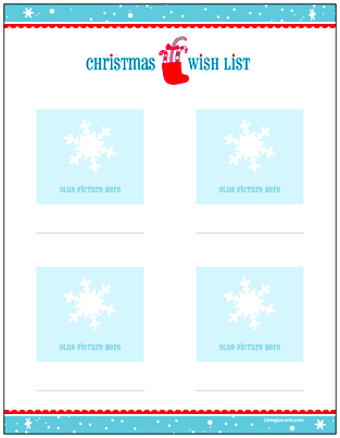 Christmas Wish List for Kids - Letter to Santa {Free Printable}