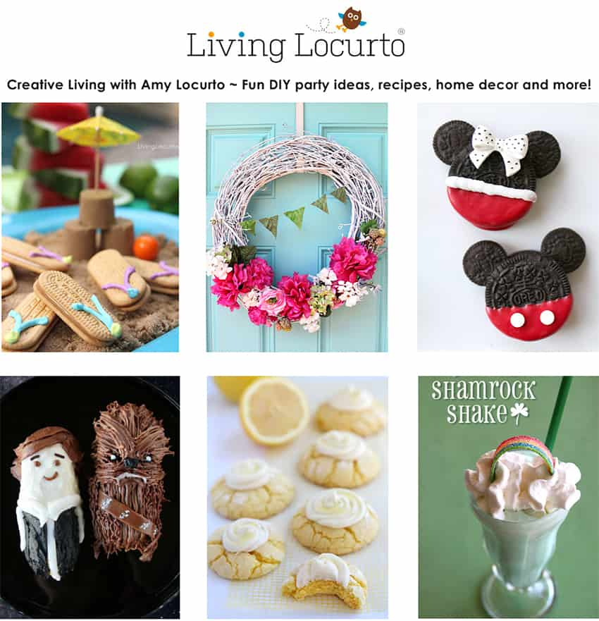 Living Locurto is a Food, Party & DIY Lifestyle blog with original recipes, crafts, home decor, travel and family fun ideas! Based in Dallas Texas by Amy Locurto. LivingLocurto.com