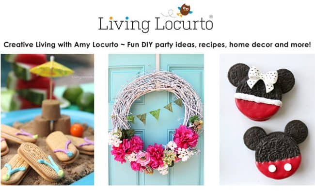 Living Locurto - DIY Lifestyle, Party and Food blog featuring delicious recipes, crafts, home decor, travel and family fun ideas!