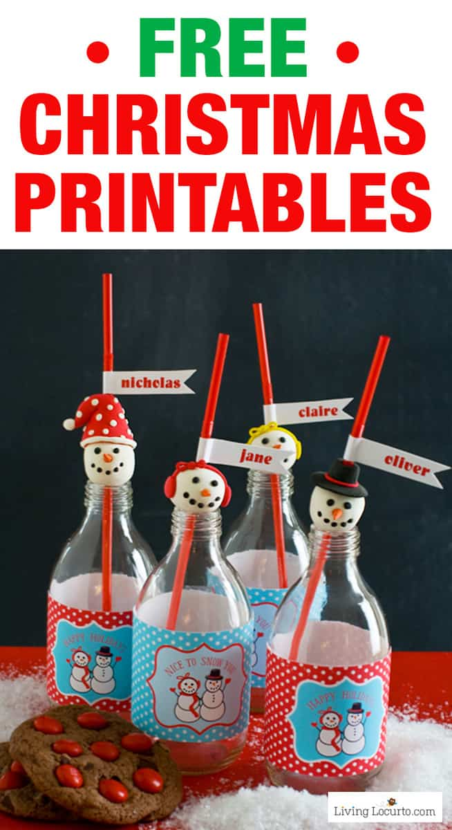 Free Christmas Printables - Cards, Tags, Party Invitations, Party Printables, Gifts, and more!