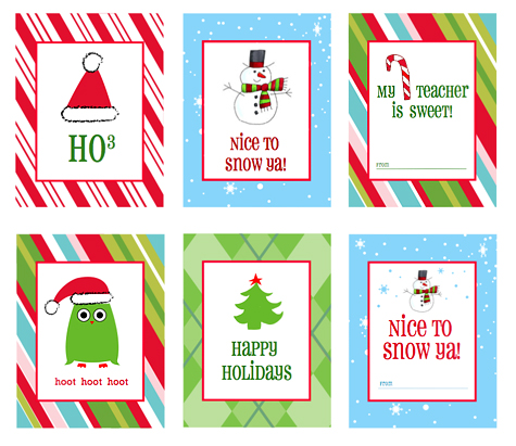 Free Printable Christmas Gift Tags by Amy at LivingLocurto.com