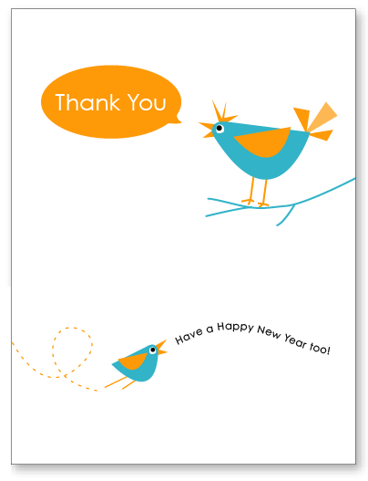 Thank You & Happy New Year Free Printable Card by Amy at LivingLocurto.com
