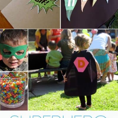 Superhero Birthday Party Ideas {Free Party Printables}
