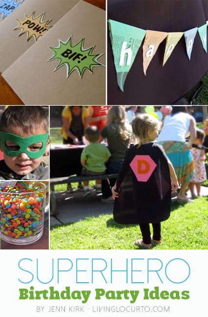 Super Hero Birthday Party Ideas and Free Party Printables.