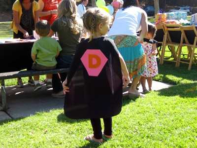 Superhero Free Pattern Cape - Birthday Party Ideas