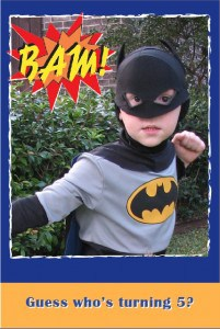 batman party invitation - Super Hero Birthday Party