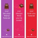 Owl Valentine's Day Cards & Bookmarks {Free Printable}
