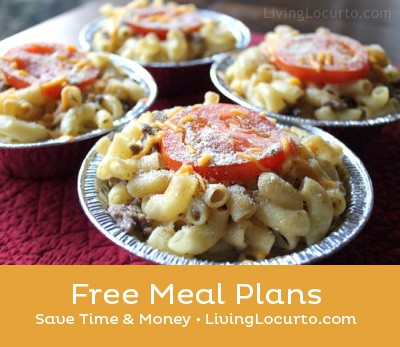 Free Weekly Meal Plans - Free Printable Grocery Lists & Recipes | Living Locurto | Meal Planning