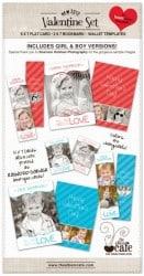 Free Party Printable Valentine Photoshop Templates