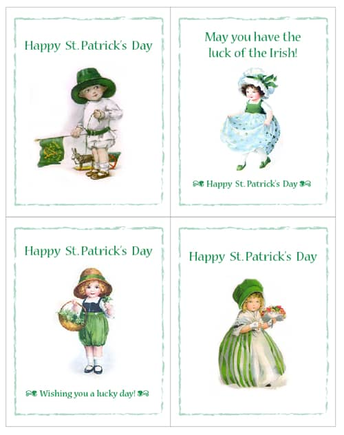 image about St Patrick's Day Cards Free Printable called St. Patricks Working day Absolutely free Printable Playing cards - Residing Locurto