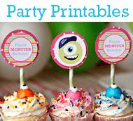 Free Party Printables - DIY Party Ideas, Crafts, Recipes at LivingLocurto.com