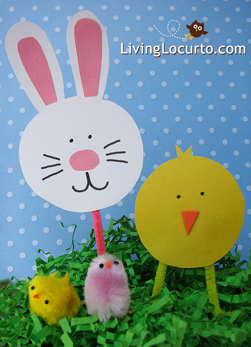 Easter Crafts for Kids – Paper Bunny Candy Holder