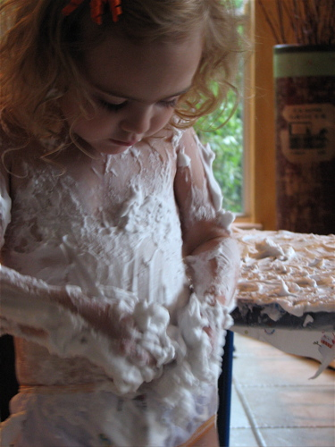 Learning to Write with Shaving Cream
