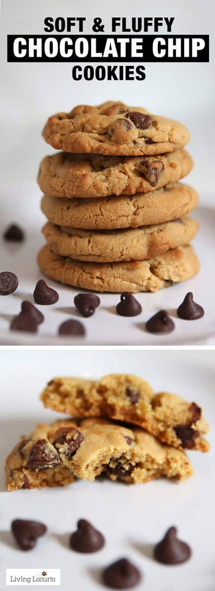 A recipe for the BEST and softest chocolate chip cookies! Soft fluffy cookies that come out perfect every time. A classic chocolate chip cookie recipe.