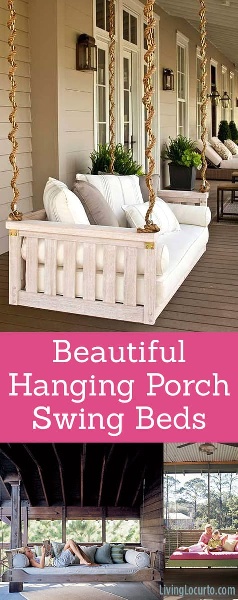 Beautiful Hanging Porch Beds | Home Inspiration