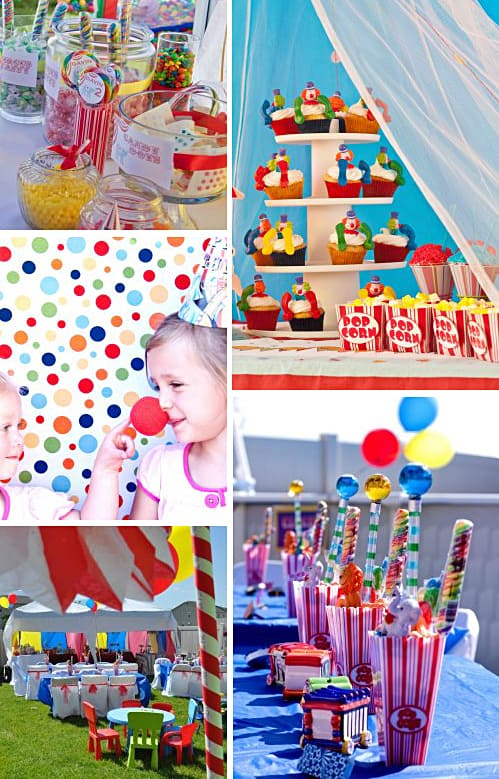 big top circus birthday party ideas