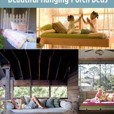 Beautiful Hanging Porch Swing Beds