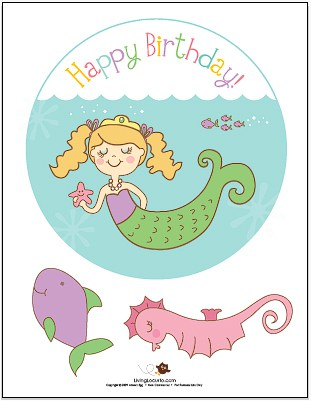 Mermaid Party Centerpiece -  Party Printables