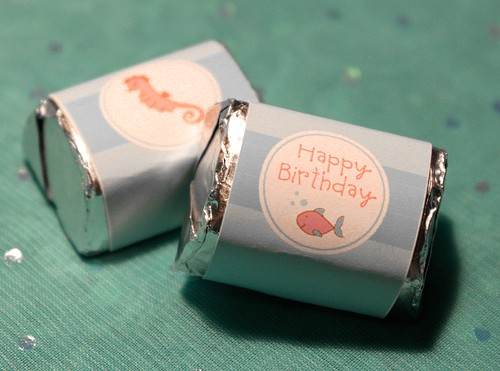 Mermaid Birthday Party Candy Wrappers - Party Printables