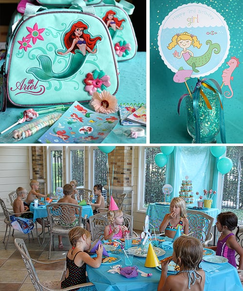 Cute Mermaid Party Birthday Ideas Printables by Amy Locurto LivingLocurto.com