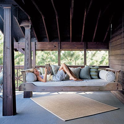 Ok, well now I am obsessed w/ hanging swing beds...
