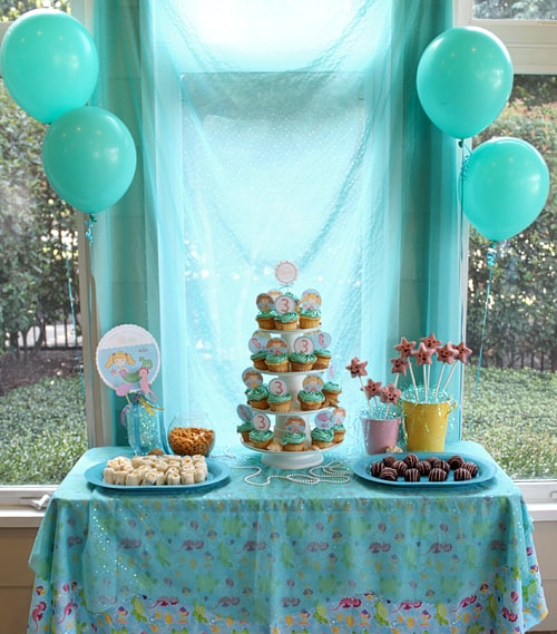 Amazing mermaid birthday party tidymom for Ariel birthday party decoration ideas