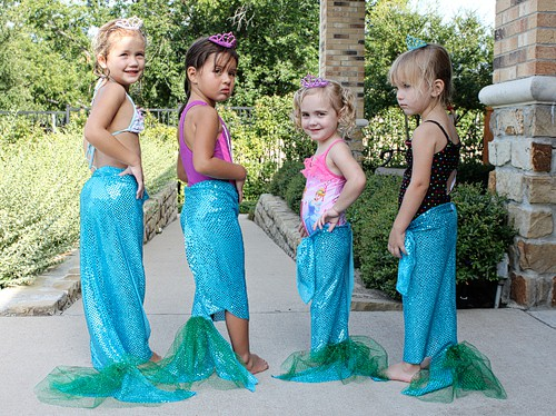 DIY Mermaid Tails for Little Mermaid Themed Parties.