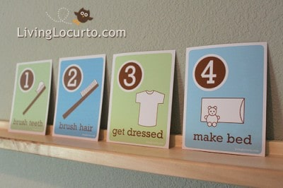 Morning Routine Flash Cards - Free Printable for kids