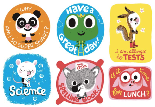 Cute back to school stickers and book plates back to school free printables