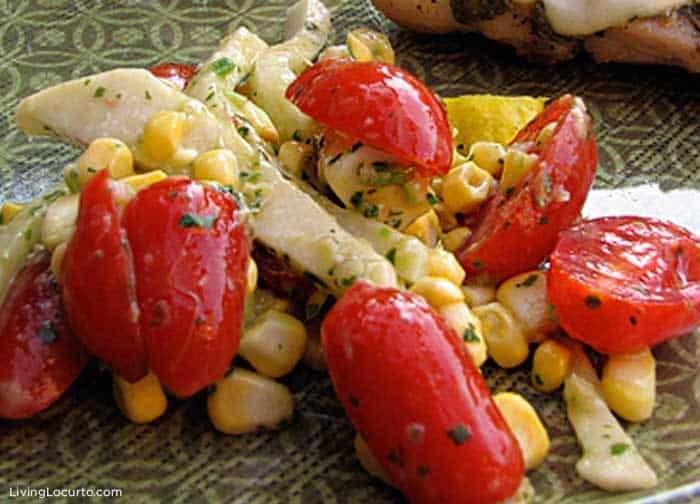 Quick and easy corn and avocado salad recipe is a perfect side dish for any meal.