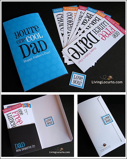Printable Father's Day Card. Celebrate Dad with these easy Father's Day Gifts! Get free printables, recipes, crafts and simple homemade last minute gift ideas for men.