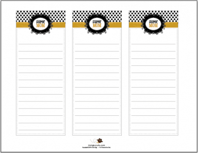 Super Mom Notes! Free Printables by Amy at LivingLocurto.com
