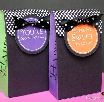 Printable Polka Dot Halloween Bags & Tags