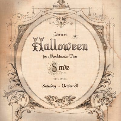 Save the Date for Halloween Free Download