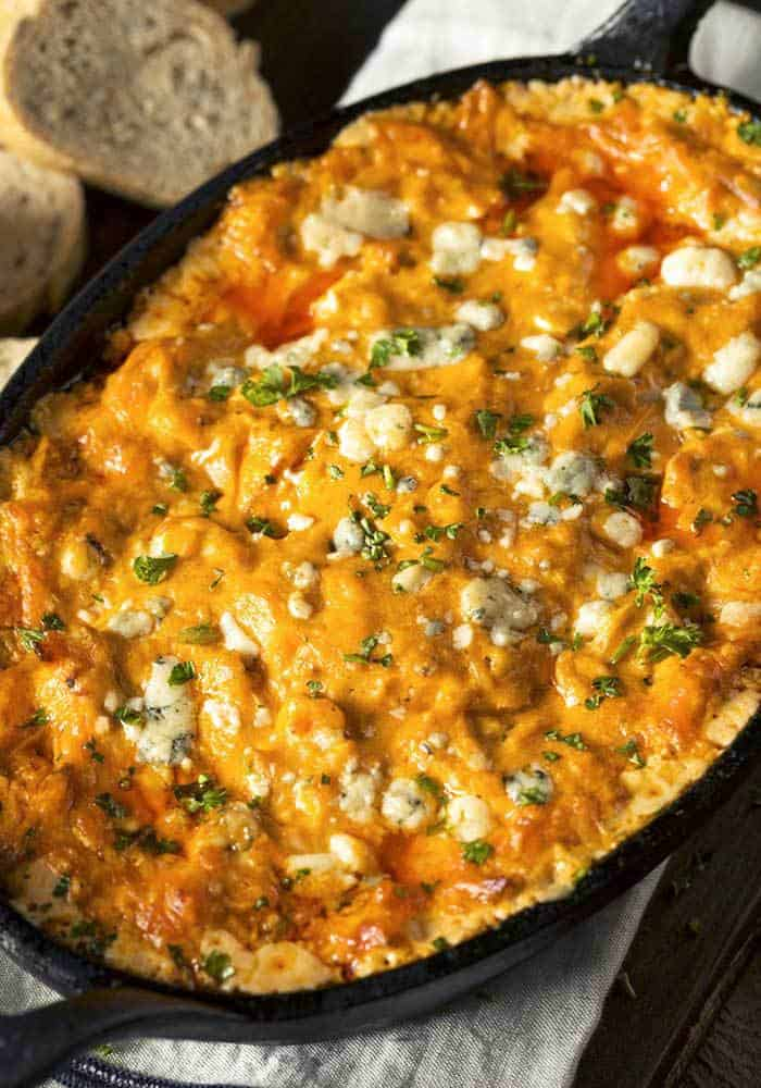 Buffalo Chicken Dip is a creamy hot wings and cheese dip recipe packed full flavor!