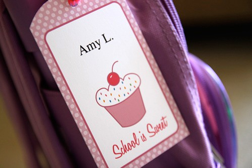 Free Printable Back to School Tag by Amy Locurto - Cupcake Living Locurto