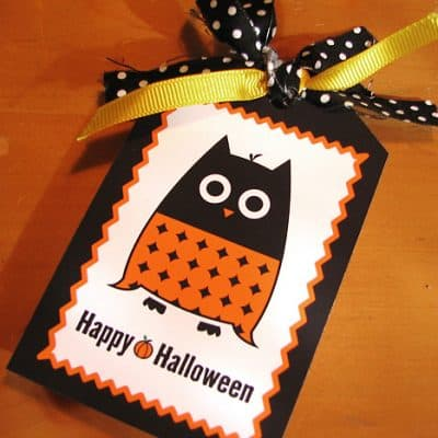 Free Printable Halloween Owl Tag