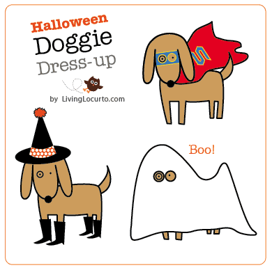 Free Printable - Halloween Dog Paper Dolls