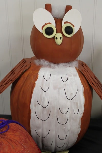 Halloween Owl Painted Pumpkin | Living Locurto