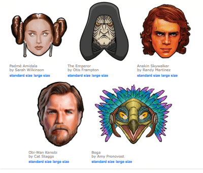 photograph relating to Printable Star Wars Mask identified as No cost Printable Star Wars Masks - Residing Locurto