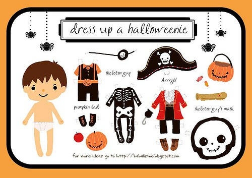 Halloween Paper Doll Free Printables - Living Locurto