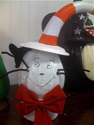 Halloween Dr. Seuss Painted Pumpkin   Living Locurto