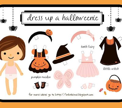 Halloween Paper Doll Free Printables