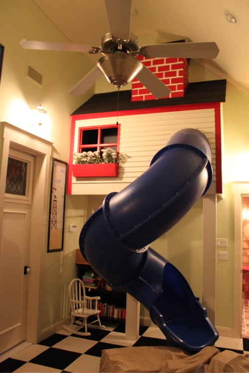 Amazing Whimsical Home Tour! Indoor slide. LivingLocurto.com