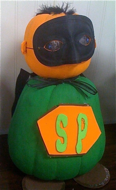 Halloween Super Hero Painted Pumpkin | Living Locurto